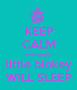 KEEP CALM eventually little blokey WILL SLEEP - Personalised Poster large