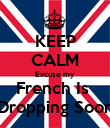 KEEP CALM Excuse my French Is  Dropping Soon - Personalised Poster large