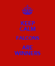 KEEP CALM FALCONS ARE WINNERS - Personalised Poster large