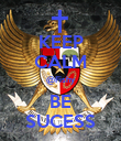 KEEP CALM @Fishy BE SUCESS - Personalised Poster large