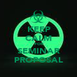 KEEP CALM FOR SEMINAR PROPOSAL - Personalised Poster large