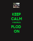 KEEP CALM FRIENDS PLOD  ON - Personalised Poster large