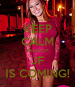 KEEP CALM *FUDEU* JF IS COMING! - Personalised Poster large