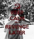 KEEP CALM GET REVENGE LATER - Personalised Poster large