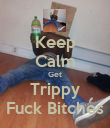 Keep Calm Get Trippy Fuck Bitches - Personalised Poster large