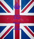 KEEP CALM Happy Annv 1Month - Personalised Poster large