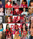 KEEP CALM HAPPY B-DAY DEMI LOVATO - Personalised Poster large