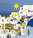 Keep Calm & Happy birthday Clémence - Personalised Poster large