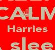 KEEP CALM Harries A sleep shhhhhhh - Personalised Poster large