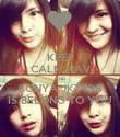 KEEP CALM HAV AND SONYA JKT498 IS BELONG TO YOU - Personalised Poster large