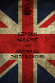 KEEP CALM, HAVE A PINT, AND WAIT FOR ALL THIS TO BLOWOVER - Personalised Poster large