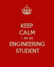 KEEP CALM I AM AN ENGINEERING  STUDENT - Personalised Poster large