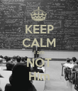 KEEP CALM I am NOT Him - Personalised Poster large