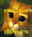 KEEP CALM    I DONT BITE - Personalised Poster large