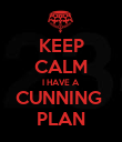 KEEP CALM I HAVE A  CUNNING  PLAN - Personalised Poster large