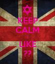 KEEP CALM I LIKE ?? - Personalised Poster large