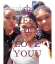 KEEP CALM I LOVE YOUU - Personalised Poster large