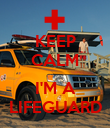 KEEP CALM  I'M A LIFEGUARD - Personalised Poster large