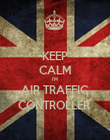 KEEP CALM I'M  AIR TRAFFIC CONTROLLER  - Personalised Poster large
