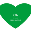 KEEP CALM I'M AN ACCOUNTANT  - Personalised Poster large