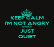 KEEP CALM I'M NOT ANGRY SIMPLY JUST QUIET - Personalised Poster large