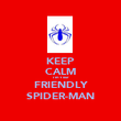 KEEP CALM I'm Your FRIENDLY SPIDER-MAN - Personalised Poster large