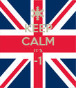 KEEP CALM IT'S -1  - Personalised Poster large