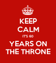 KEEP CALM IT'S 60 YEARS ON THE THRONE - Personalised Poster large