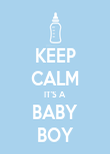KEEP CALM IT'S A BABY BOY - Personalised Poster large