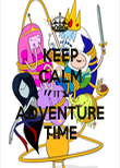 KEEP CALM IT'S ADVENTURE TIME - Personalised Poster large
