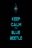 KEEP CALM IT'S BLUE  BEETLE - Personalised Poster large