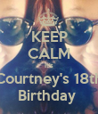 KEEP CALM It's Courtney's 18th Birthday  - Personalised Poster large