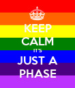 KEEP CALM IT'S JUST A PHASE - Personalised Poster large