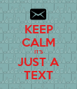 KEEP CALM IT'S JUST A TEXT - Personalised Poster large