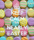 KEEP CALM IT'S  NEARLY EASTER - Personalised Poster small