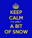 KEEP CALM IT'S ONLY A BIT OF SNOW - Personalised Poster large
