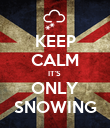 KEEP CALM IT'S  ONLY SNOWING - Personalised Poster large