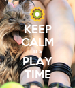 KEEP CALM IT'S PLAY TIME - Personalised Poster large