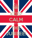 KEEP CALM IT'S THE JUBILEE! - Personalised Poster large