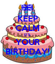 KEEP CALM IT'S  YOUR BIRTHDAY! - Personalised Poster large