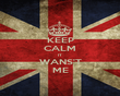 KEEP CALM IT WANS'T ME - Personalised Poster large