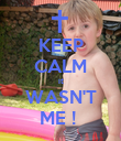 KEEP CALM it WASN'T ME !  - Personalised Poster large