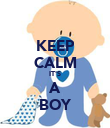 KEEP CALM IT'S A BOY - Personalised Poster large