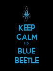 KEEP CALM ITS BLUE BEETLE - Personalised Poster large
