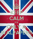 KEEP CALM ITS ONLY A WALPAPER!!! - Personalised Poster large