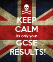 KEEP CALM its only your GCSE  RESULTS! - Personalised Poster large