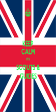 KEEP CALM ITS SCOUTS & GUIDES - Personalised Poster large