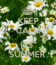 KEEP CALM  ITS  SUMMER  - Personalised Poster large