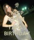 KEEP CALM It's YARA'S BIRTHDAY - Personalised Poster large