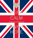 KEEP CALM Jessica Elphick Zayn is HERE - Personalised Poster large
